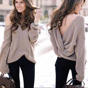 Vestique Brown Twist Sweater